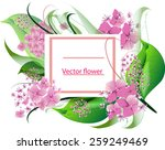 vector background with flowers... | Shutterstock .eps vector #259249469