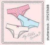 cute women underwear vector...   Shutterstock .eps vector #259255688