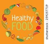 vector color vegetables icon.... | Shutterstock .eps vector #259257719