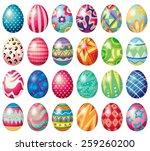 different design of easter eggs | Shutterstock .eps vector #259260200
