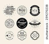 vintage retro wedding logo... | Shutterstock .eps vector #259270238