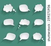 white paper speech bubbles | Shutterstock .eps vector #259271936