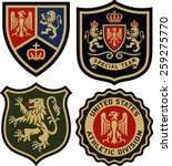 classic royal emblem heraldic... | Shutterstock .eps vector #259275770