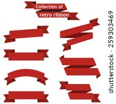collection of retro ribbons on... | Shutterstock .eps vector #259303469