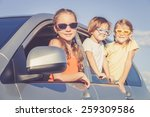 happy brother and his two... | Shutterstock . vector #259309586