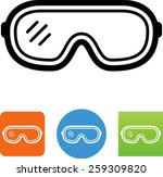 safety glasses icon | Shutterstock .eps vector #259309820