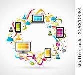 internet conceptual abstract... | Shutterstock .eps vector #259310084