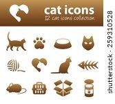 cat icons | Shutterstock .eps vector #259310528