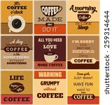 retro typographic coffee themed ... | Shutterstock .eps vector #259314644