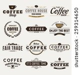 typographic coffee themed label ... | Shutterstock .eps vector #259314650