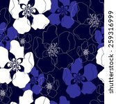 seamless pattern with flowers.... | Shutterstock .eps vector #259316999