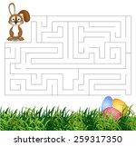 isolated vector maze game  ... | Shutterstock .eps vector #259317350