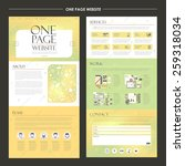 trendy one page website design...