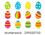set of twelve color bright... | Shutterstock . vector #259320710