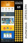 one page website vector...
