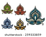 persian and indian paisley... | Shutterstock .eps vector #259333859