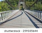 Old Suspension Bridge In Pont...