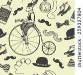 hand drawn vintage gentleman... | Shutterstock .eps vector #259337804