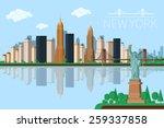 new york city architecture... | Shutterstock .eps vector #259337858