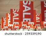 shopping sale background | Shutterstock . vector #259339190