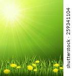 vector illustration of a summer ... | Shutterstock .eps vector #259341104