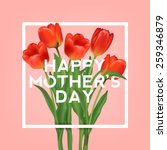 happy mothers typographical... | Shutterstock .eps vector #259346879