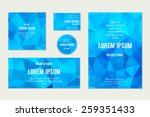 set of abstract geometric... | Shutterstock .eps vector #259351433