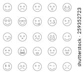emotions lines icons set.vector | Shutterstock .eps vector #259352723