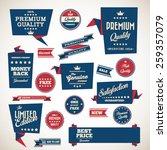 origami vintage labels set... | Shutterstock .eps vector #259357079