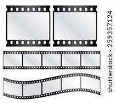 vector film strips   waveform... | Shutterstock .eps vector #259357124