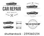 auto service set   Shutterstock .eps vector #259360154