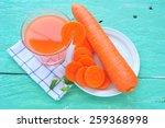 fresh carrot juice.   Shutterstock . vector #259368998