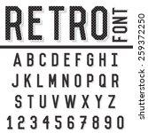 retro alphabet font. type... | Shutterstock .eps vector #259372250