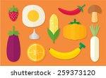 vegetable set 03 | Shutterstock .eps vector #259373120