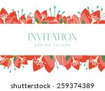 invitation card with banner and ... | Shutterstock .eps vector #259374389