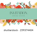 invitation card with banner and ...