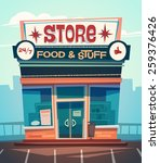 grocery store facade. vector... | Shutterstock .eps vector #259376426