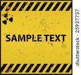 radioactive warning | Shutterstock .eps vector #25937737