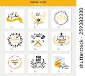 big set of cards for restaurant ... | Shutterstock .eps vector #259382330