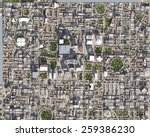 city bird eye view | Shutterstock . vector #259386230