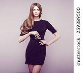 fashion portrait of elegant... | Shutterstock . vector #259389500