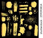 set of  gold grunge elements.... | Shutterstock .eps vector #259393814