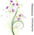 floral background design | Shutterstock .eps vector #259394066