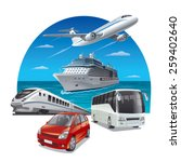 travel transport | Shutterstock .eps vector #259402640