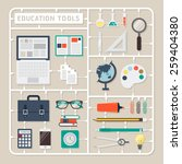 creative thinking vector flat... | Shutterstock .eps vector #259404380