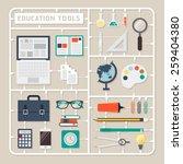 creative thinking vector flat... | Shutterstock .eps vector #259404380