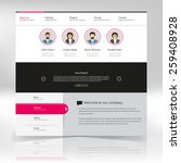 clean website template design...