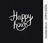 happy hours phase in simple... | Shutterstock .eps vector #259410056