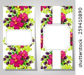 abstract flower background with ... | Shutterstock . vector #259410890