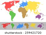 vector illustration of world... | Shutterstock .eps vector #259421720